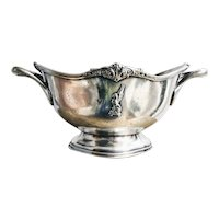 Antique Silver Plated Serving Bowl from Rectors Lobster Palace NYC