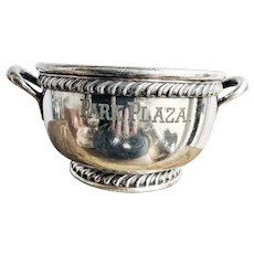 Antique Silver Plated Ice Bucket from The Park Plaza Hotel NYC