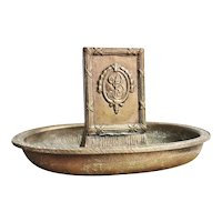 Antique Bronze Match Holder from The Biltmore Hotel