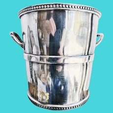 Antique Silver Plated Champagne Bucket from Chicago, Rock Island & Pacific Railway