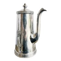 Antique Silver Plated Coffee Pot from The Plaza Hotel NYC
