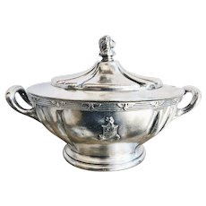 Vintage Silver Plated Tureen from The Stevens Hotel Chicago