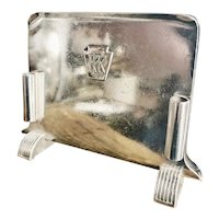 Vintage 1947 Silver Menu Holder from Pennsylvania Railroad
