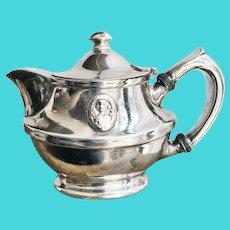 1914 Silver Plated Teapot from Hotel Blackhawk
