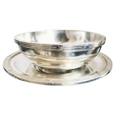1920s Silver Plated Bowl & Underplate from Rock Island Lines Railroad