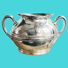 Antique Silver Plated Pennsylvania Railroad Sugar Bowl
