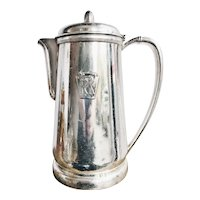 1939 Silver Plated Pennsylvania Railroad 54 oz Coffee Pitcher