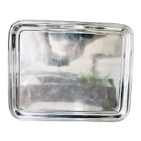 Christofle Silver Serving Tray from Hotel Plaza Biarritz