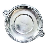 Antique Hotel Silver Wine Coaster from Murray's Roman Gardens & Hotel Lucerne NYC