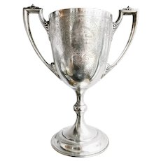 Monumental 1904 Sterling Silver Best Fat Cow Trophy Cup