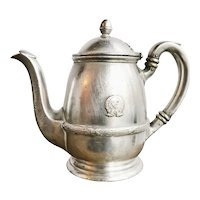 1927 Silver Teapot from The Savoy Plaza Hotel NYC
