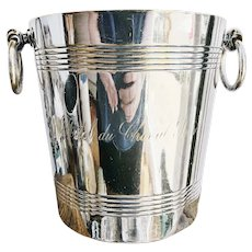 Vintage Silver Plated Champagne Bucket from Hotel du Cheval Noir