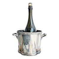1931 Silver Plated Ice or Champagne Bucket from The Hotel Statler