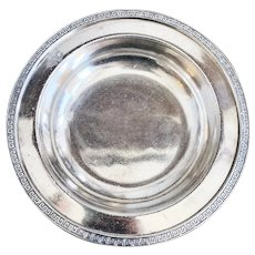 Antique Silver Plated Bowl from Illinois Central Railroad