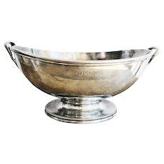 Massive 1924 Silver Plated Serving Bowl from Detroit & Cleveland Navigation Steamship