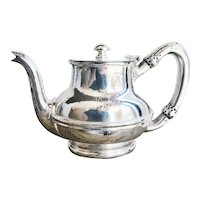 1920s Silver Plated Delaware & Hudson Railway Teapot
