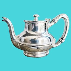 1920s Silver Plated Delaware & Hudson Railway Teapot