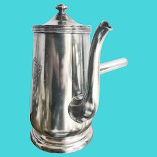 1968 Silver Plated Coffee Pot from The Plaza Hotel NYC