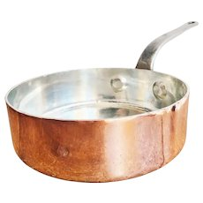Antique Heinrichs Copper Pan from Restaurant Mayan NYC