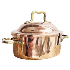 Antique Heinrichs Copper & Sterling Silver Lidded Pot