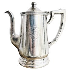 1957 Silver Plated Coffee Pot from The Plaza Hotel in NYC