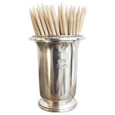 Vintage Silver Toothpick Holder from Italia Line Ocean Liner