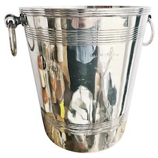 Vintage Silver Plated Champagne Bucket from Palm Beach Casino in Cannes