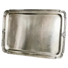 Antique Silver Plated Serving Tray from New York Central & Hudson River Railroad