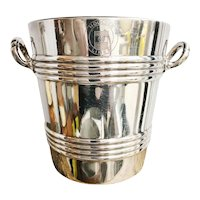 Vintage English Silver Plated Ice Bucket from Houlder Line Steamship