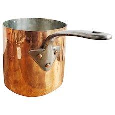 Antique English Copper Pot with Armorial Engraving