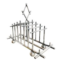 Antique English Silver Plated Toast Rack
