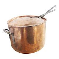 Massive Antique Lidded Copper Pot from Niagara Falls Hotels