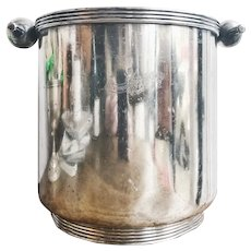 1933 Silver Plated Champagne Bucket from The Narragansett Hotel Providence RI