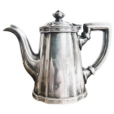 Antique Silver Plated Teapot from The Willard Hotel in Washington DC