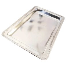 Monumental 1946 Silver Plated Serving Tray from The Bellevue Stratford Hotel
