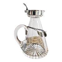 Antique Tiffany & Co Sterling Silver and Glass Scotch Noggin