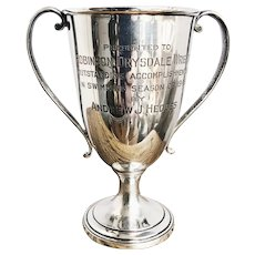 1945 Tiffany & Co Sterling Silver Swimming Trophy