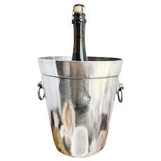 1890s Silver Plated Union Pacific Overland Railroad Champagne Bucket