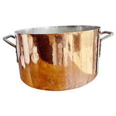 Massive Antique Copper Stock Pot by International Range of NYC