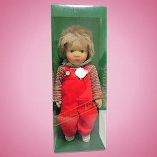 "Kathe Kruse 13 1/2"" Boy Doll Made In Germany In Original Box ""Robbi"""