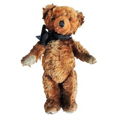 1920's-30's Cinnamon Mohair Knickerbocker Teddy Bear