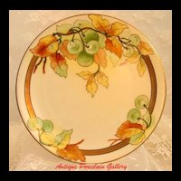 Antique Limoges Porcelain Cabinet Plate ~ Hand Painted Fruit Decoration in Pickard Style ~ Artist Signed ~ Double Marked