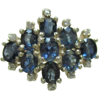 Vintage Estate LONDON BLUE TOPAZ 925 Sterling Silver Ring - 5.4 Grams - Size 8
