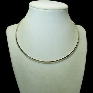 Vintage Estate 925 Sterling Silver OMEGA Chain Necklace - 4.5mm Wide - 20.2 Gram