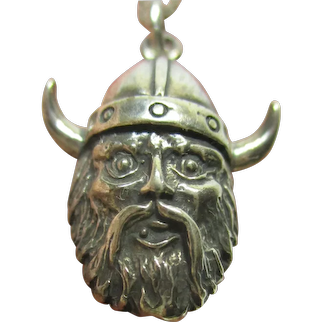 MEN'S Vintage VIKING Handcrafted Artisan Sterling Silver Necklace with 925 Chain