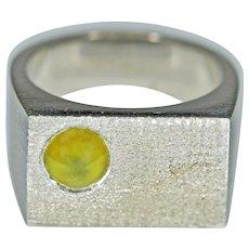 Cat's Eye Chrysoberyl, 14K White Gold Ring