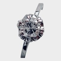 DIAMOND 0.69 Carats, 14K White Gold Ring (Beautiful)