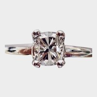 DIAMOND .39ct. Modified Princess in Cut White Gold Ring