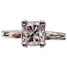 DIAMOND .39ct. Modified Princess in Cut White Gold Ring
