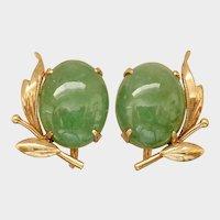 Jadeite Earrings (Natural) w/Screw Backs